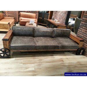 Bugatti 3 Seater Leather and Wood