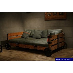 Bugatti BU-3017 3 Seater Denim Daybed