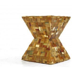 X Stool Natural Wood