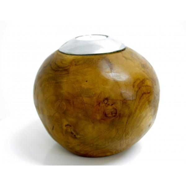 Surya 035 Round Wooden Candle