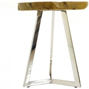 Surya 1011 Tray and Stainless Side Table
