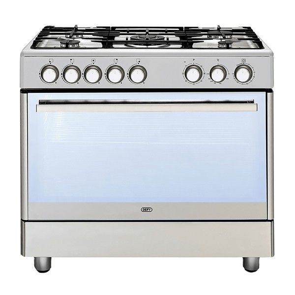 Defy 5 Burner Gas Stove Stainless Steel DGS 161