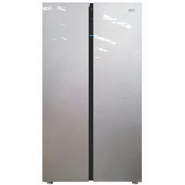 Defy DFF 413 F790 Side by Side Fridge Silver Glass