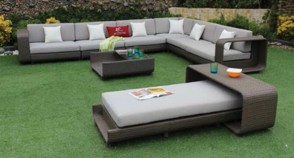 ATC 9 Piece HDPE Wicker Outdoor Sofa Set
