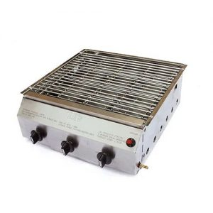 LKs 3 Burner Stainless Steel Steak Braai