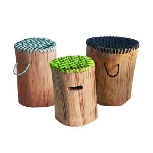 Solid Teakwood Rope Stool