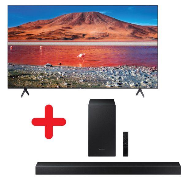 Samsung UA70TU7000 Crystal UHD TV with HW-T450 Soundbar