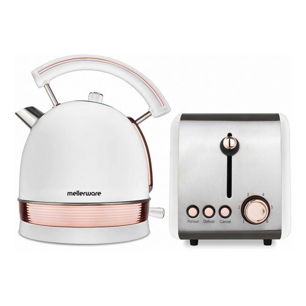 Mellerware 46042 1.8L Rose Gold Kettle and Toaster Stainless Steel